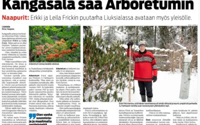 Arboretumista lehdissä